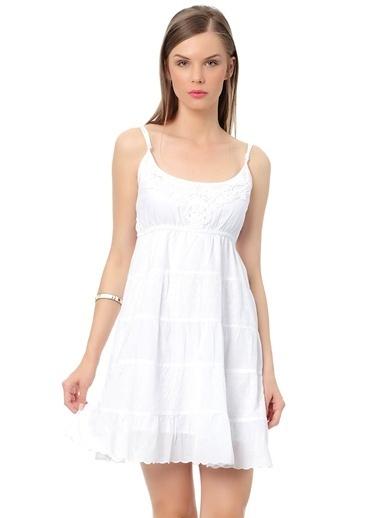 T-Box Elbise Beyaz